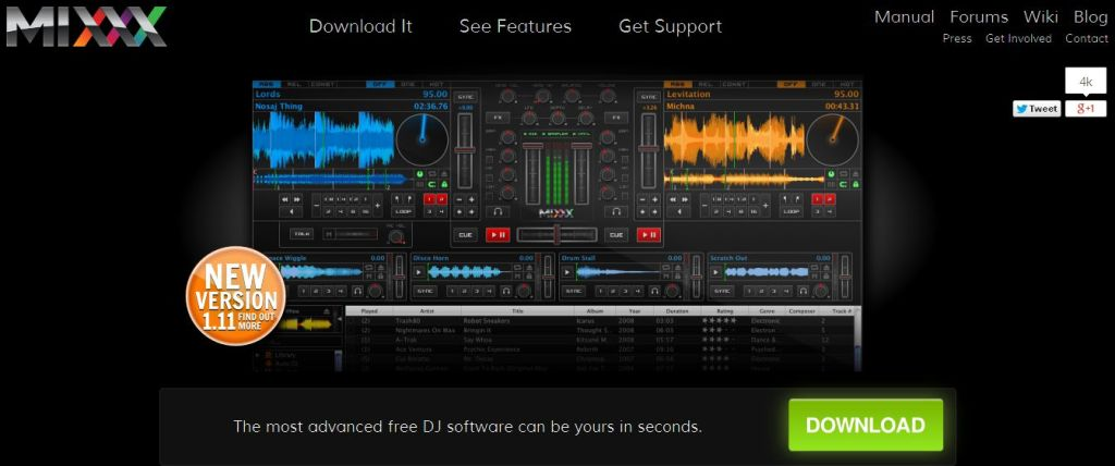 Mixxx - Free MP3 DJ Mixing Software