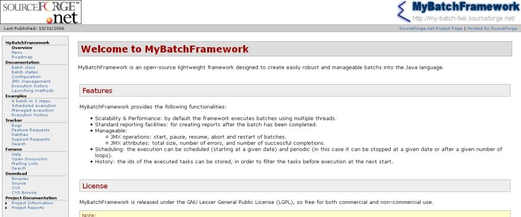 MyBatchFramework Java job scheduler