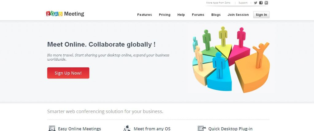 Online Meeting, Web Conferencing, Desktop Sharing Solution - Zoho