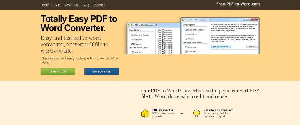 PDF to Word Converter - easy and fast pdf to word converter