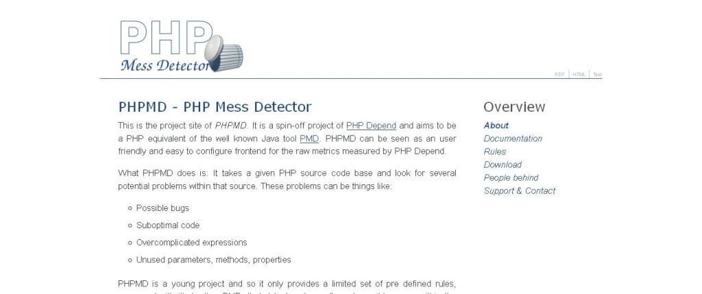 PHPMD - PHP Mess Detector