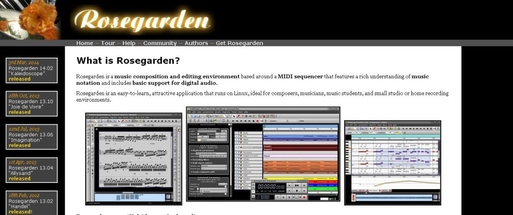 Rosegarden_ music software for Linux
