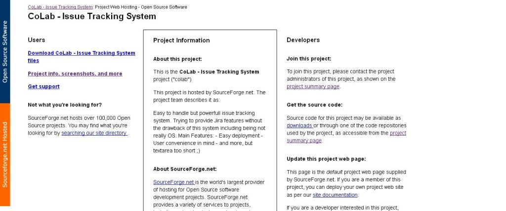 SourceForge_net_ CoLab - Issue Tracking System - Project Web Hosting - Open Source Software