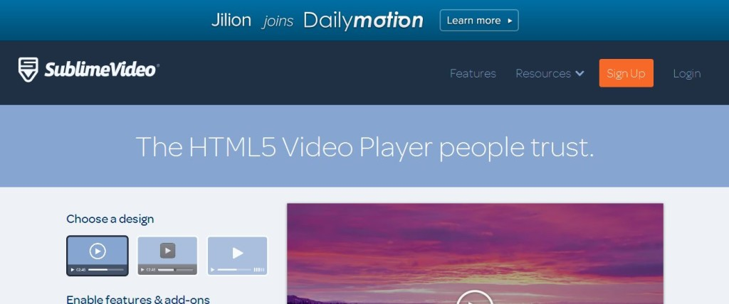 SublimeVideo Flash Player HTML