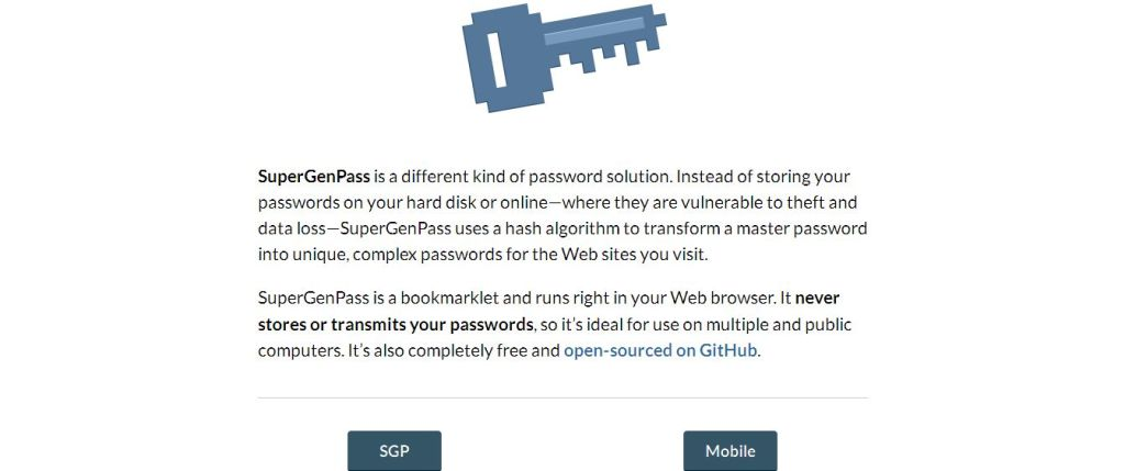 SuperGenPass_ A Free Bookmarklet Password Generator