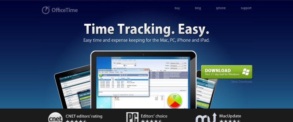 Time tracking software_ Mac, Windows and iPhone, iPad App - OfficeTime