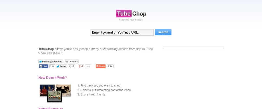 TubeChop - Chop YouTube Videos