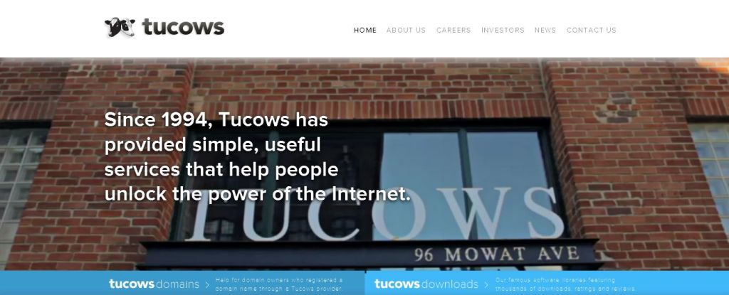 Tucows Inc_ I Unlocking the power of the Internet