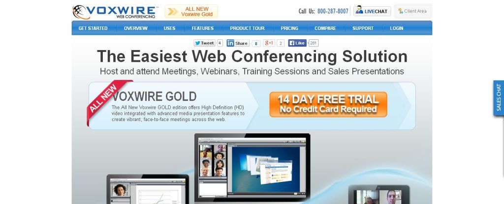 Voxwire -- the easy to use web conferencing and webinar service