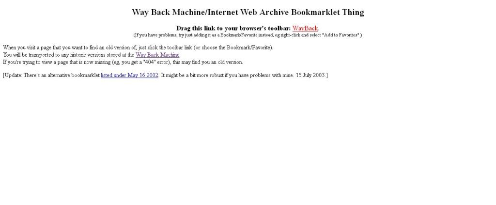 Way Back Machine_Internet Web Archive Bookmarklet Thing