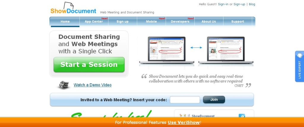 Web Meeting and Document Sharing I ShowDocument