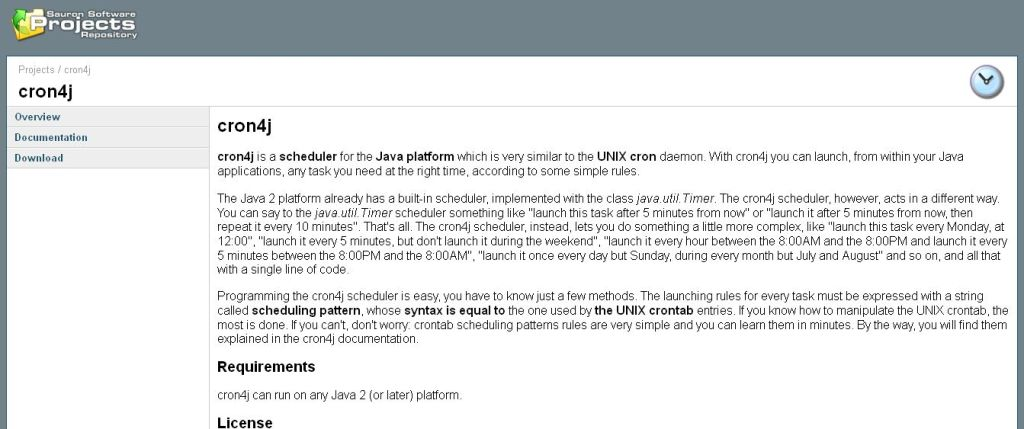 cron4j - a pure Java cron-like scheduler
