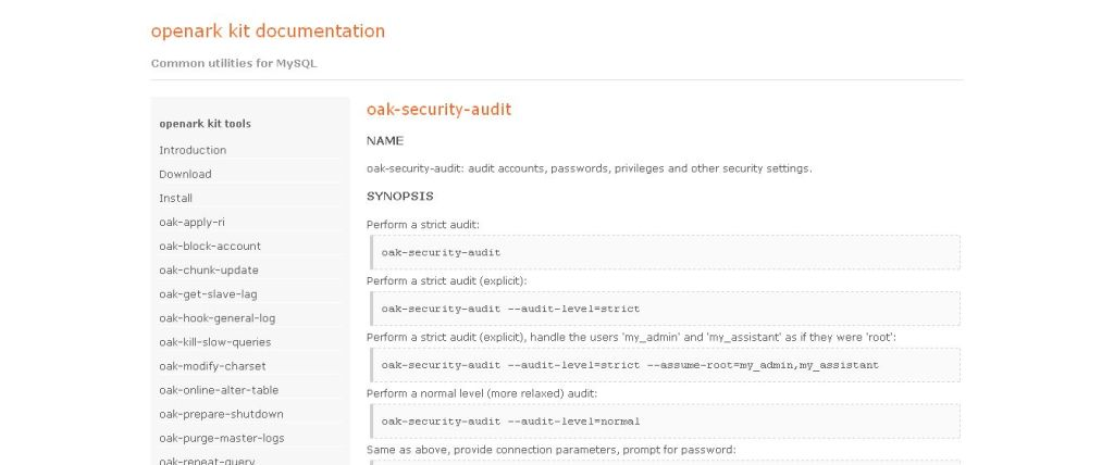 oak-security-audit_ openark kit