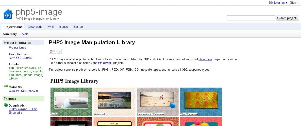 php5-image - PHP5 Image Manipulation Library - Google Project Hosting
