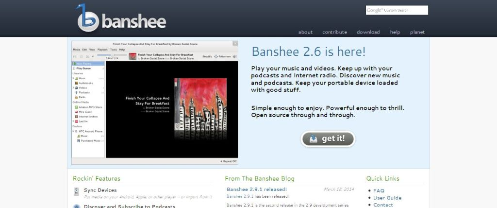 Banshee linux player