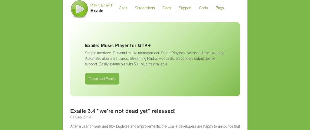 Exaile · Music Player for GTK+