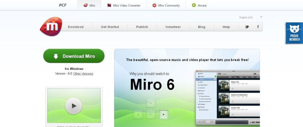 Miro - Free, open-source music and video player
