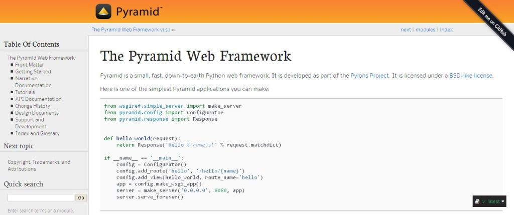 The Pyramid Web Framework — The Pyramid Web Framework
