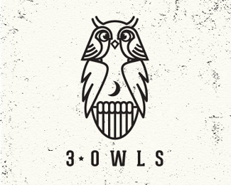 3 owls logo design