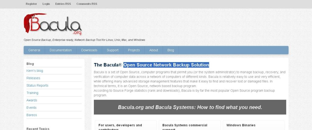 Bacula I Open Source Backup, Enterprise ready, Network Backup Tool for Linux, Unix, Mac, and Windows