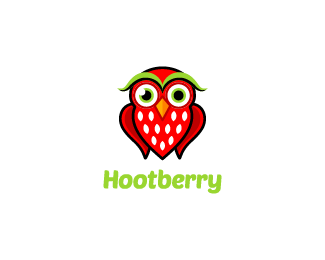 Hootberry logo design