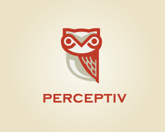 Perceptiv Owl logo design