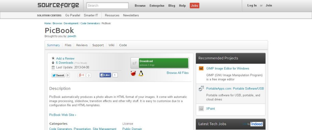 PicBook I SourceForge_net