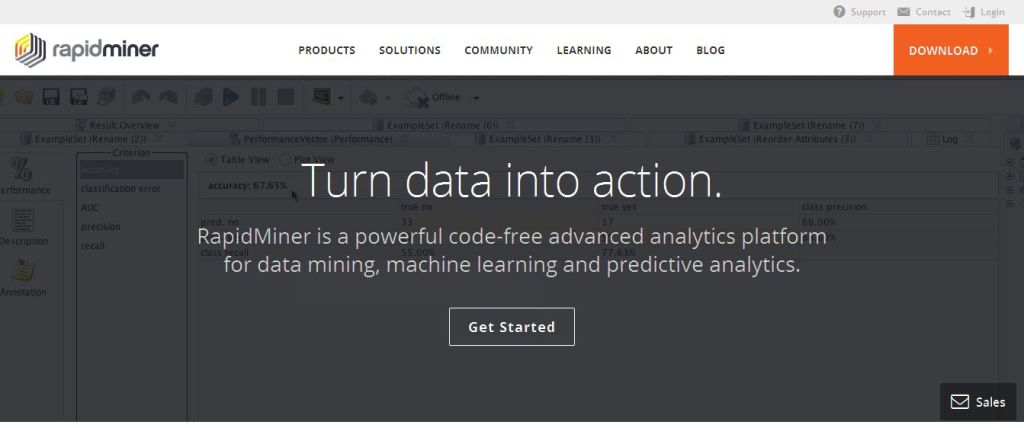 Predictive Analytics, Data Mining, Self-service, Open source - RapidMiner