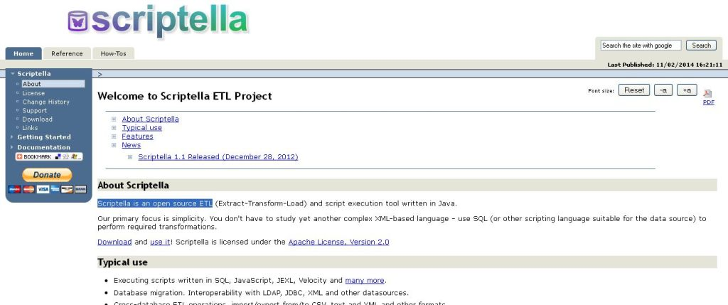 Scriptella is an open source ETL