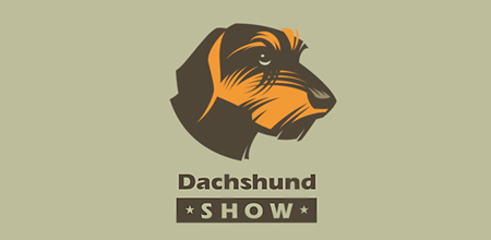 dog logo design dog dachshund logo
