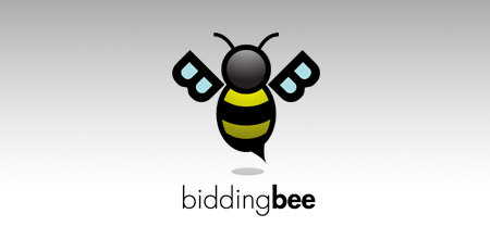 bidding bee creative logo