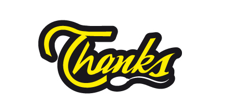thanks yellow Creative logo