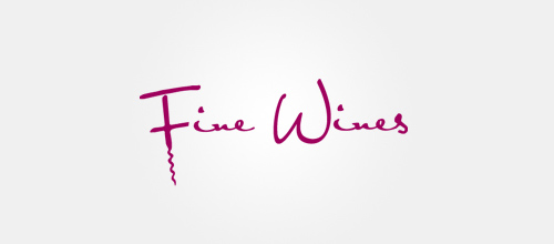 Elegant Signature Logo Designs Fine Wines