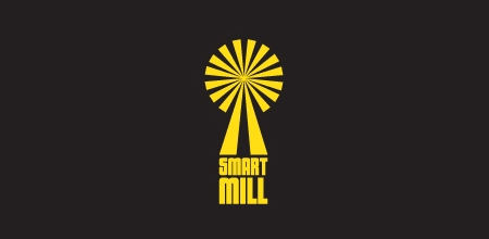 smart mill yellow Creative logo
