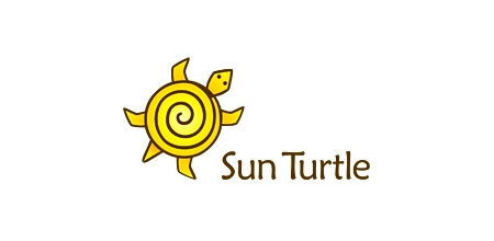 sun turtle yellow Creative logo
