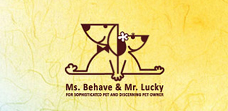 dog logo design ms. Behave and mr. lucky dog logo
