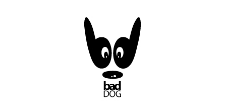 dog logo design bad dog logo