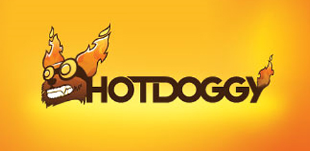 dog logo design hot doggy logo
