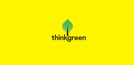 think green logo Design