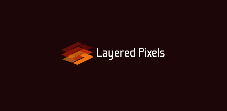 Sequential Type Logo Designs Layered Pixels