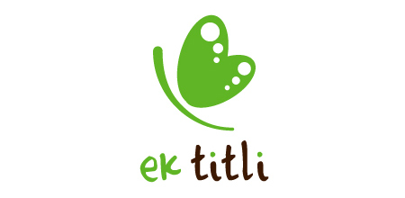 ek titli green logo Design