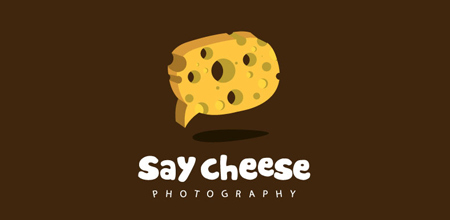 say cheese yellow Creative logo