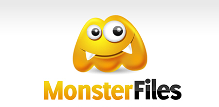 monster flies yellow Creative logo