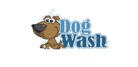 dog logo design dog wash logo