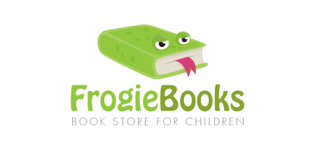 frogie books Green logo design