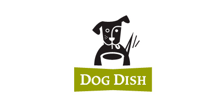 dog logo design dog dish logo