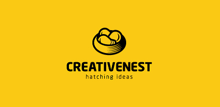 creative nest yellow Creative logo
