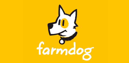 dog logo design farm dog logo