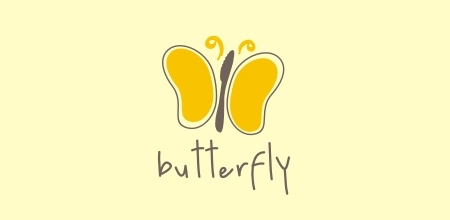 yellow butterfly Creative logo