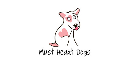 dog logo design must heart dogs logo